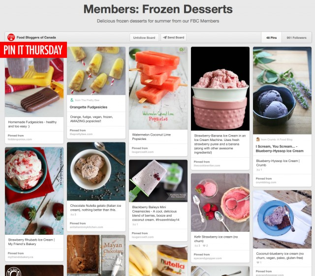 Pin It Thursday - Frozen Desserts