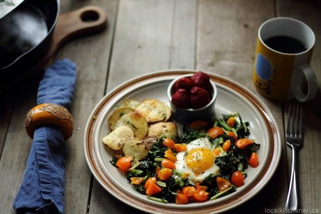 Greens, Eggs and Potatoes