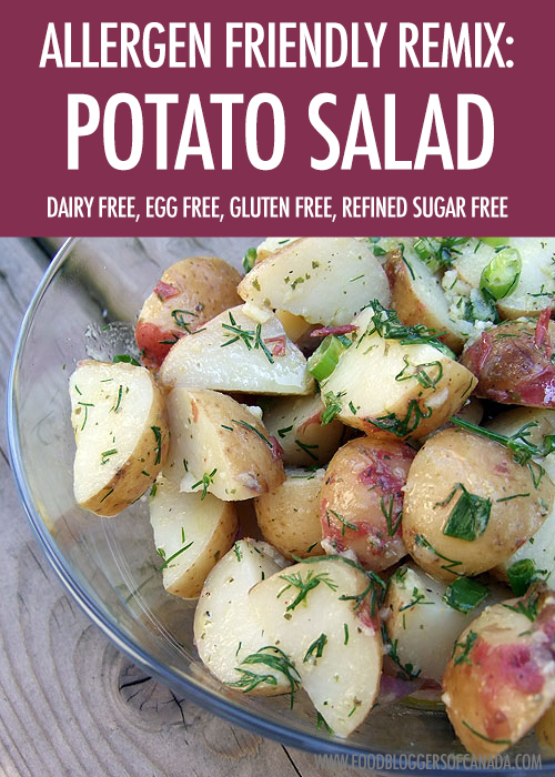 allergen friendly recipe remix: potato salad: | food bloggers of canada