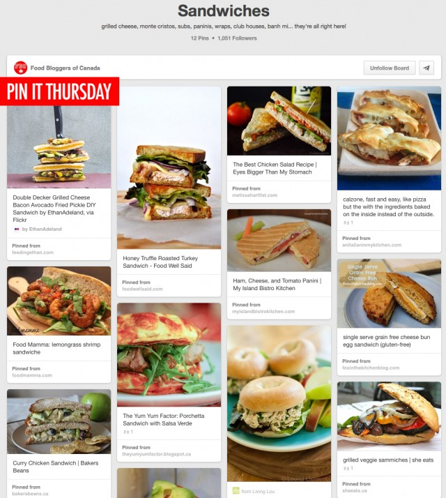 Pin It Thursday: Awesome Sandwiches | Food bloggers of Canada