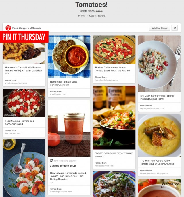 Pin It Thursday: Tomato Recipes