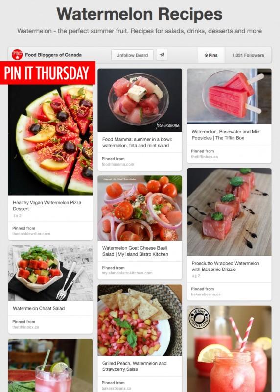 Pin It Thursday: Watermelon Recipes