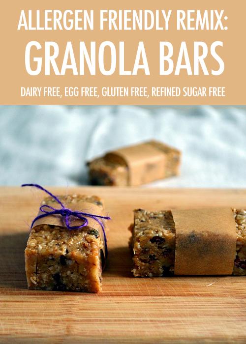 Allergy Friendly Recipe Remix: Granola Bars | Food Bloggers of Canada