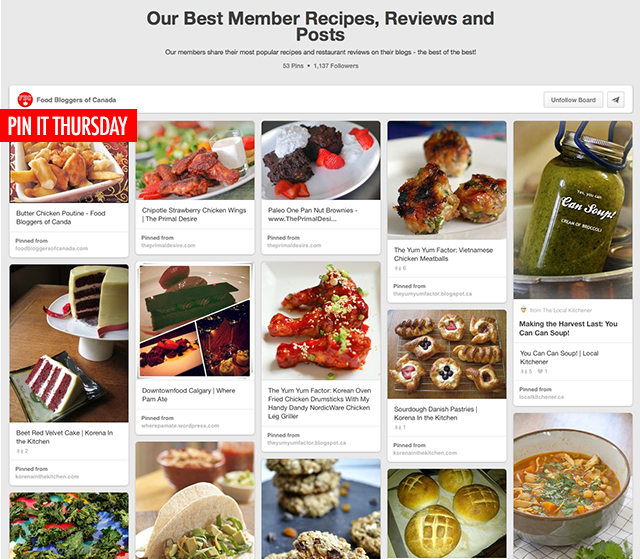Pin It Thursday   Food Bloggers of Canada