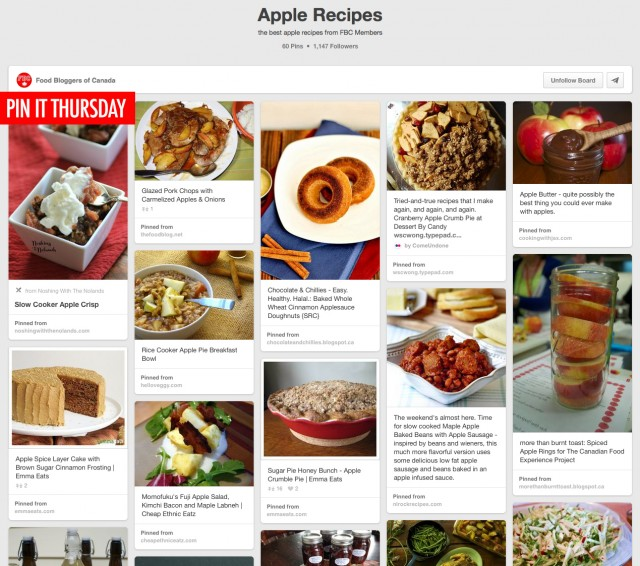 Pin It Thursday - Apple Recipes