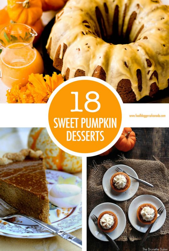 18 Sweet Pumpkin Desserts | Food Bloggers of Canada