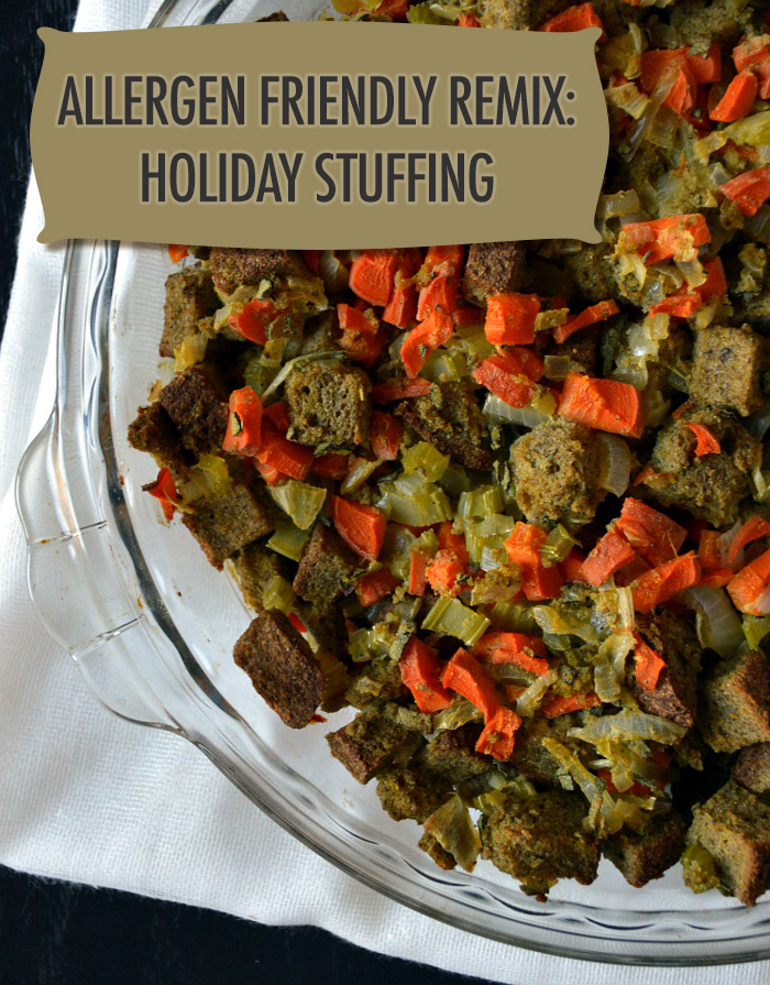 Allergen Friendly Recipe Remix - Gluten free, dairy free and vegetarian stuffing | Food Bloggers of Canada