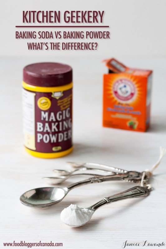 Kitchen Geekery: Baking Soda VS Baking Powder | Food Bloggers of Canada