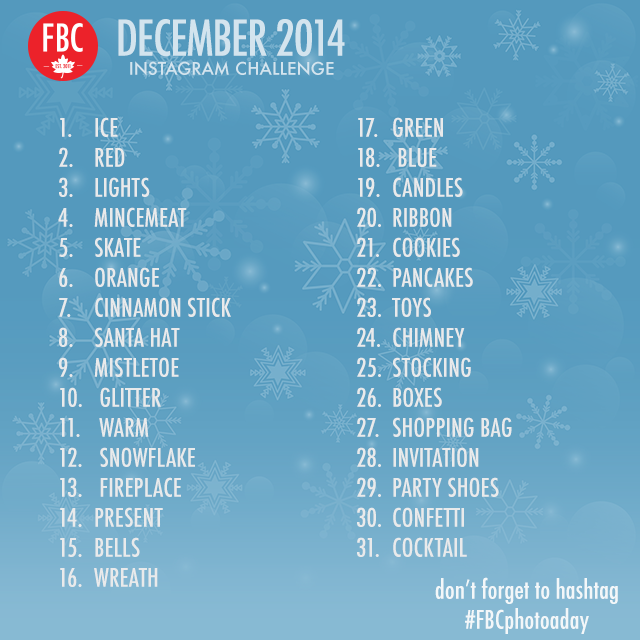 December 2014 Photo A Day Instagram Challenge | Food Bloggers of Canada