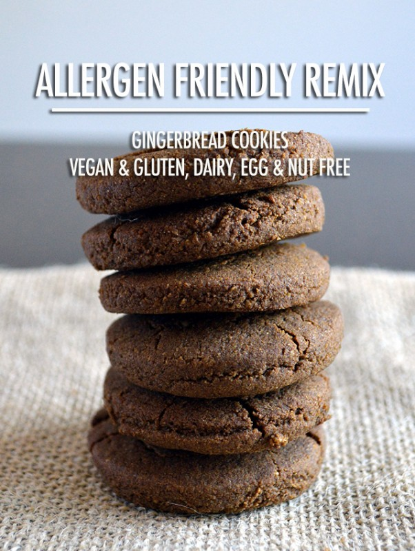 Allergen Friendly Remix - Gingerbread Cookies | Food Bloggers of Canada