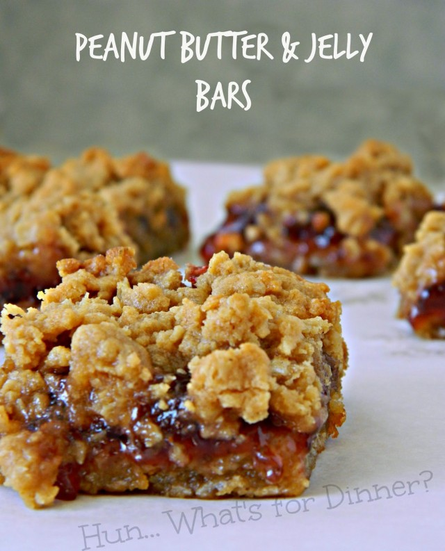 Peanut Butter Jelly Bars