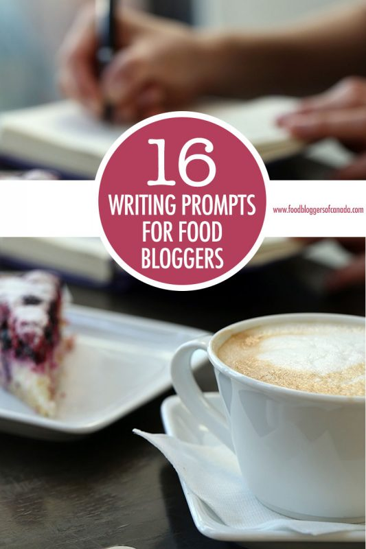 16 Writing Prompts for Food Bloggers
