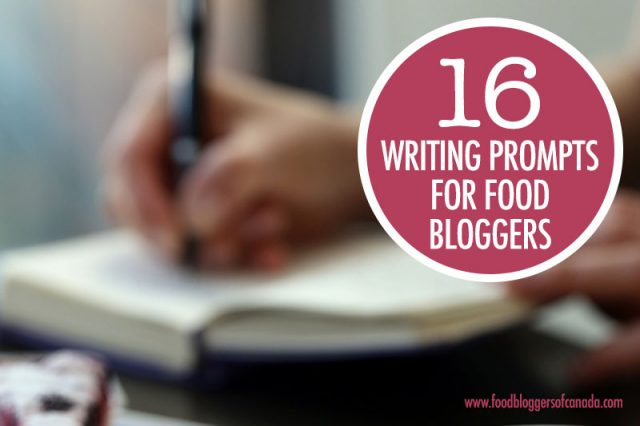 16 Food Related Writing Prompts
