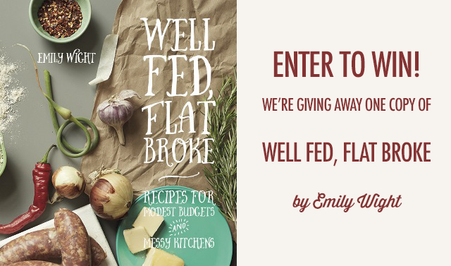 Well Fed, Flat Broke Book Giveaway | Food Bloggers of Canada
