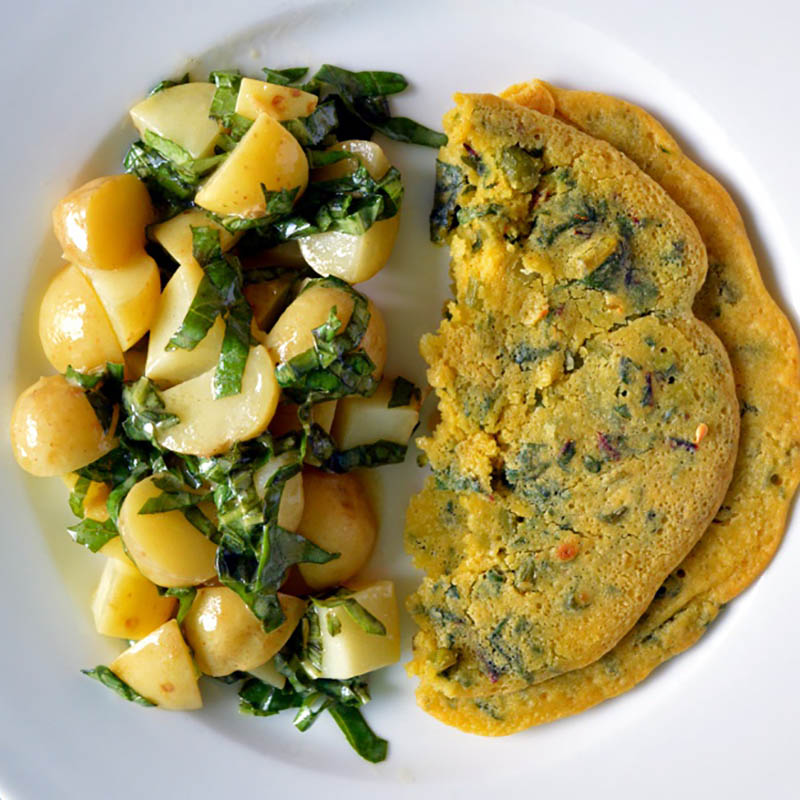 Breakfast Ideas Without Eggs: Chickpea Omelette