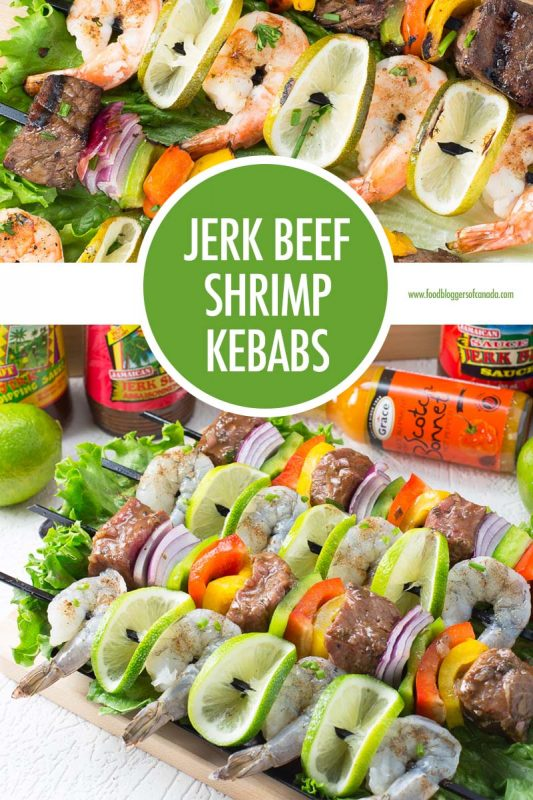 Jerk Beef and Shrimp Kebabs