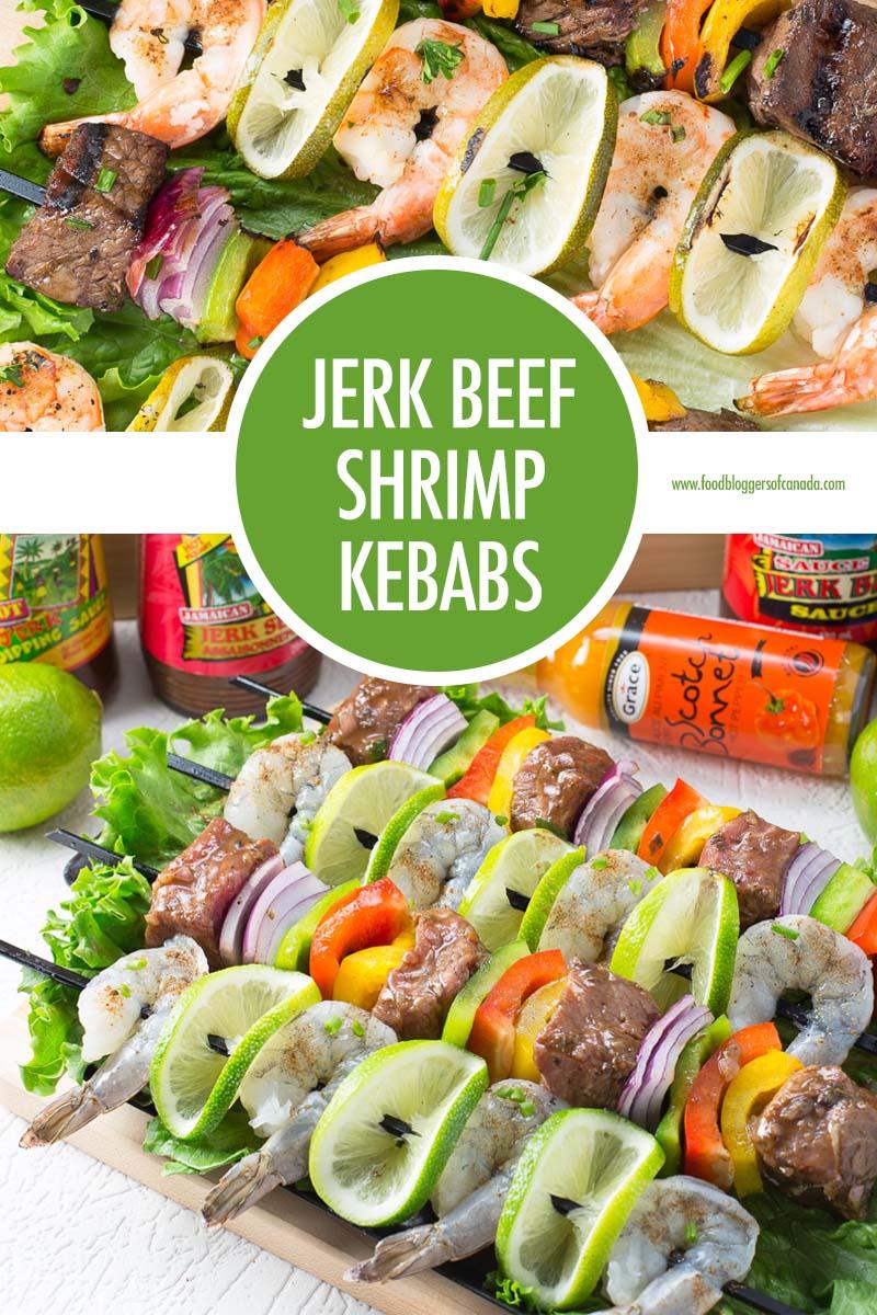 Jerk Beef and Shrimp Kebabs