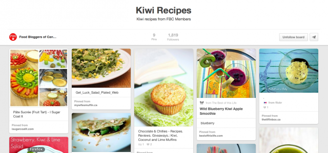 Pin It Thursday: Kiwi Recipes