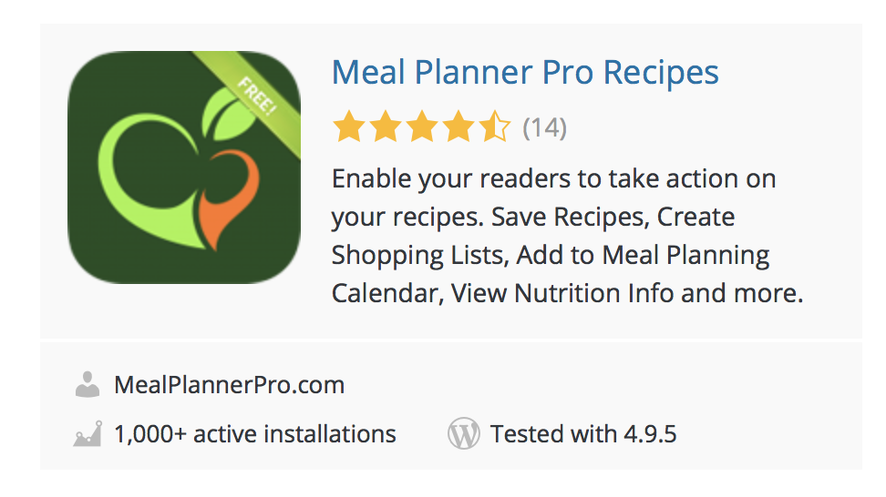 Meal Planner Pro Screenshot