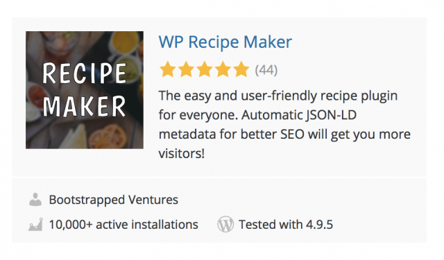 WP Recipe Maker Screenshot