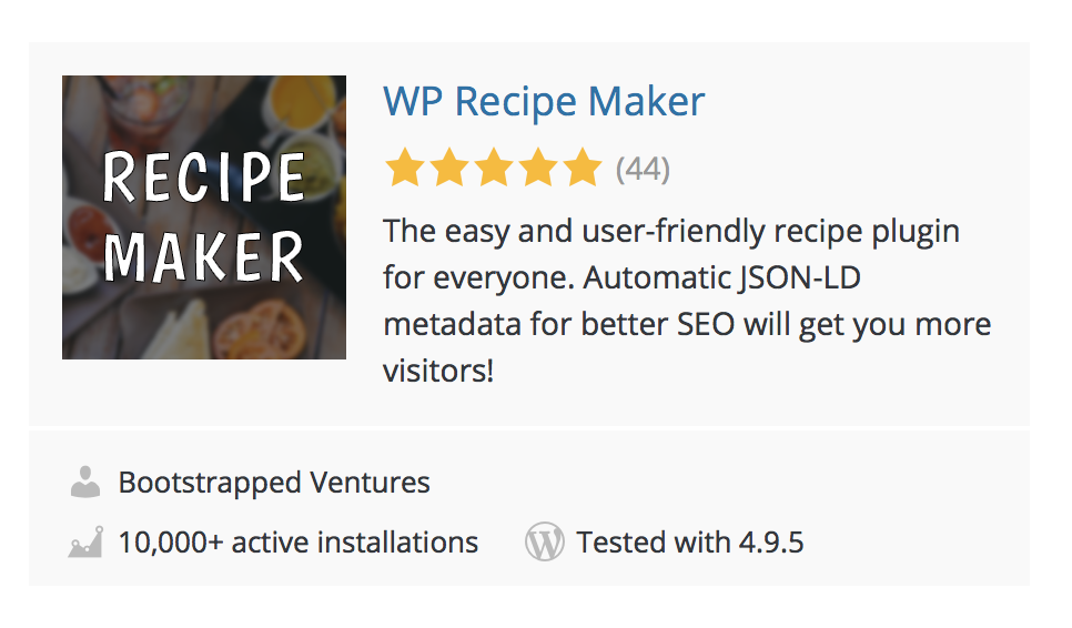 WP Recipe Maker Screenshot