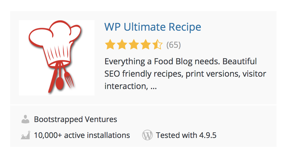 WP Ultimate Recipe Screenshot