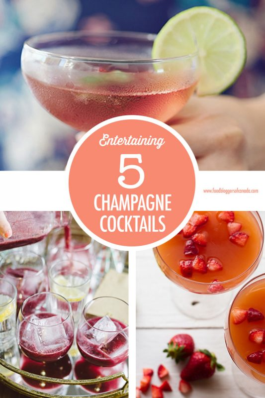 5 Champagne Cocktails For Brunch | Food Bloggers of Canada