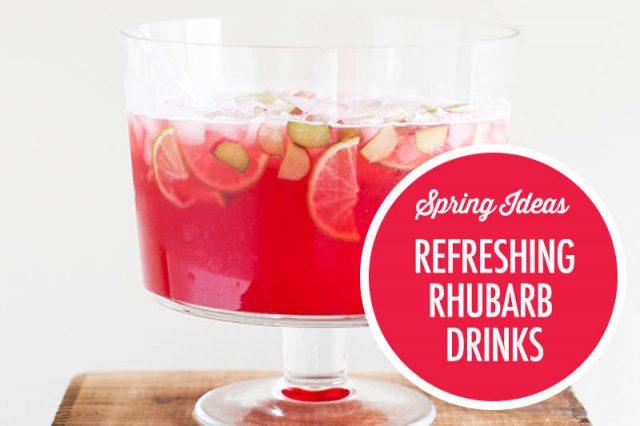 Rhubarb Drink Ideas | Food Bloggers of Canada