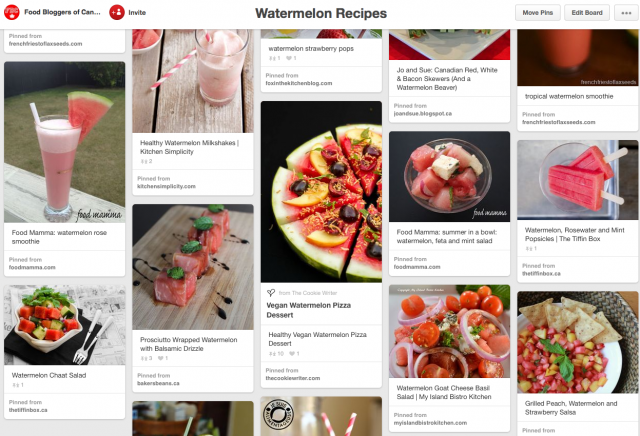 Pin It Thursday: Watermelon Group Board