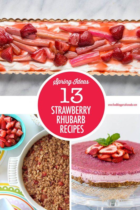 Strawberry Rhubarb Recipe Ideas   Food Bloggers of Canada
