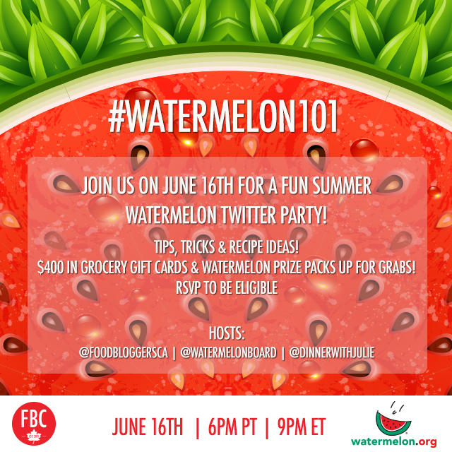Watermelon 101 Twitter Party | Food Bloggers of Canada