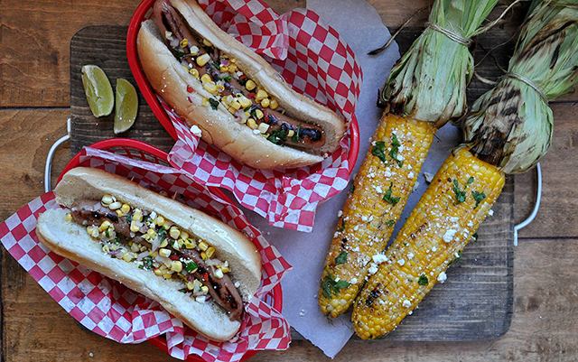 On Board in 20: Turkey Dogs with Mexican Street Corn | Food Bloggers of Canada