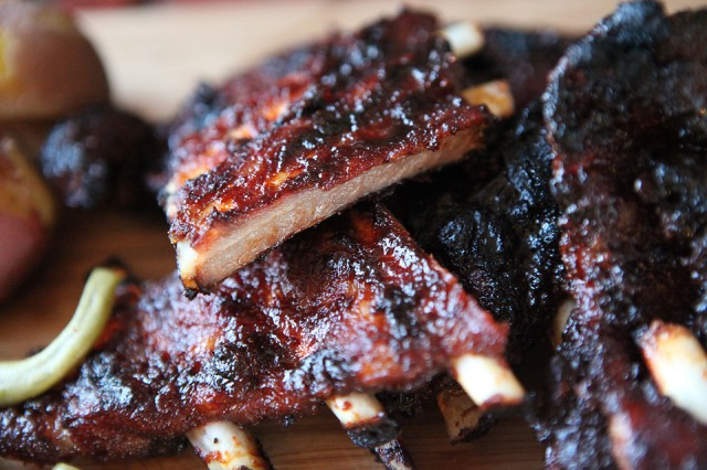 Outdoor Living: Maple BBQ Wild Boar Ribs | Food Bloggers of Canada