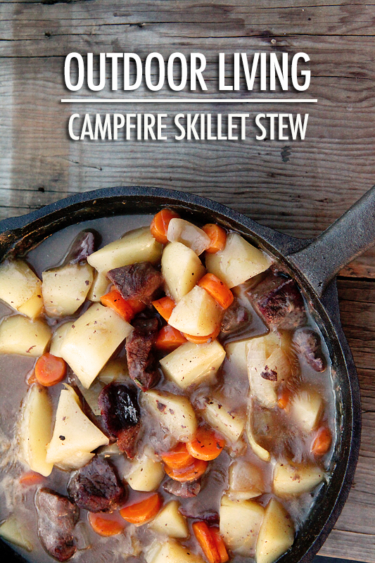 Outdoor Living Campfire Skillet Stew | Food Bloggers of Canada