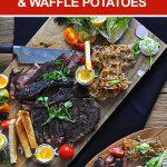 20 Minute Meal: Blackened Stead & Waffle Potatoes