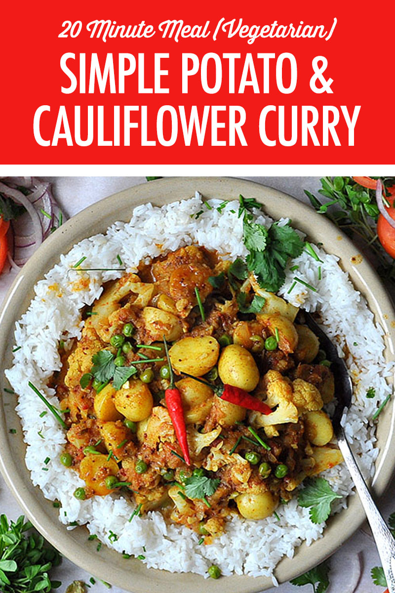 Simple Potato and Cauliflower Curry