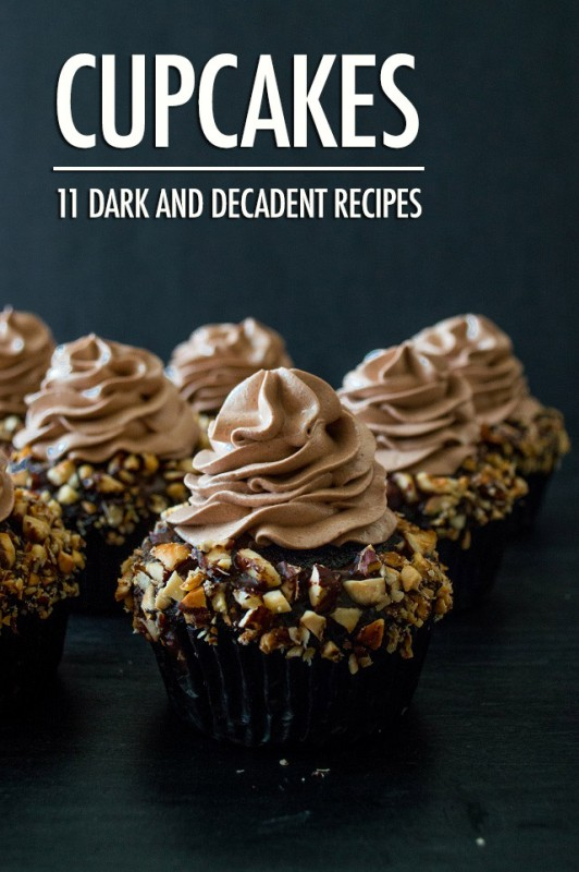 11 Dark and Decadent Cupcake Recipes | Food Bloggers of Canada