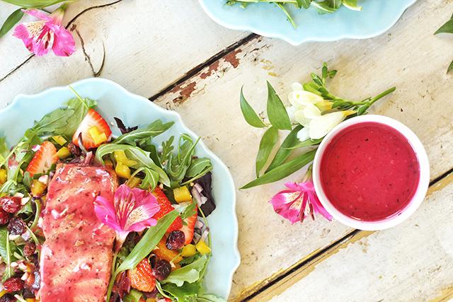 Pomegranate Hibiscus Salmon Salad   Food Bloggers of Canada