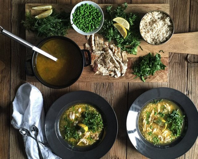 Lemon chicken build your own soup | Food Bloggers of Canada