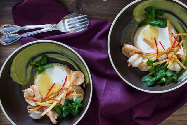 Savoury Lime Cumin Panna Cotta With Shrimp | Food Bloggers of Canada