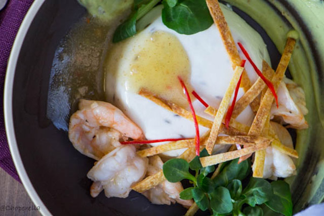 Savoury Panna Cotta with Lime Cumin Shrimp | Food Bloggers of Canada
