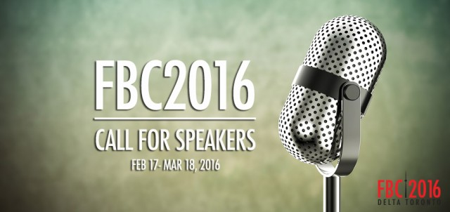 FBC2016 Call For Speakers
