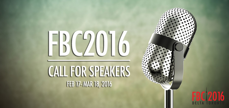 FBC2016 Call For Speakers