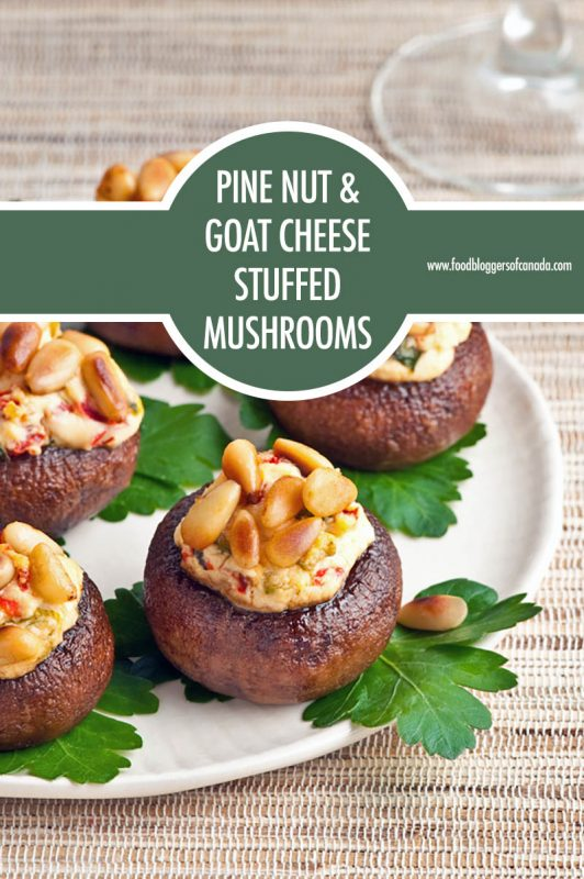 Pine Nut and Goat Cheese Stuffed Mushrooms | Food Bloggers of Canada