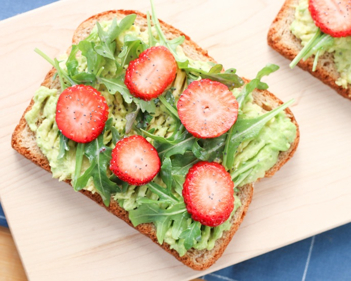 Strawberry Avocado Toast | Food Bloggers of Canada