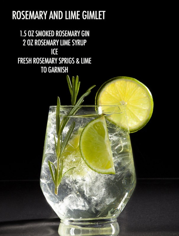 Smoked Rosemary and Lime Gimlet | Food Bloggers of Canada