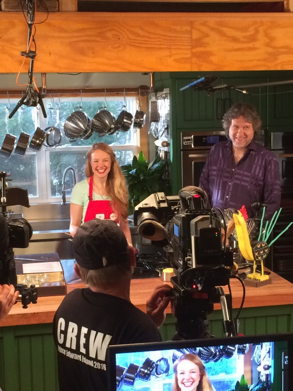 Fun times on the set with Chef Smith