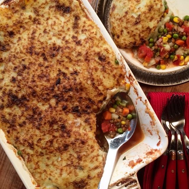 Dig in! Vegetarian Lentil Shepherd's Pie