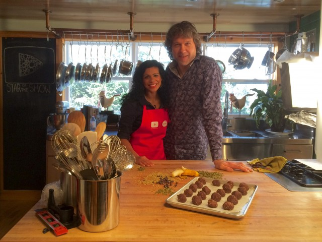 Lalitha and Chef Smith were all smiles after a great day in-front of the camera!