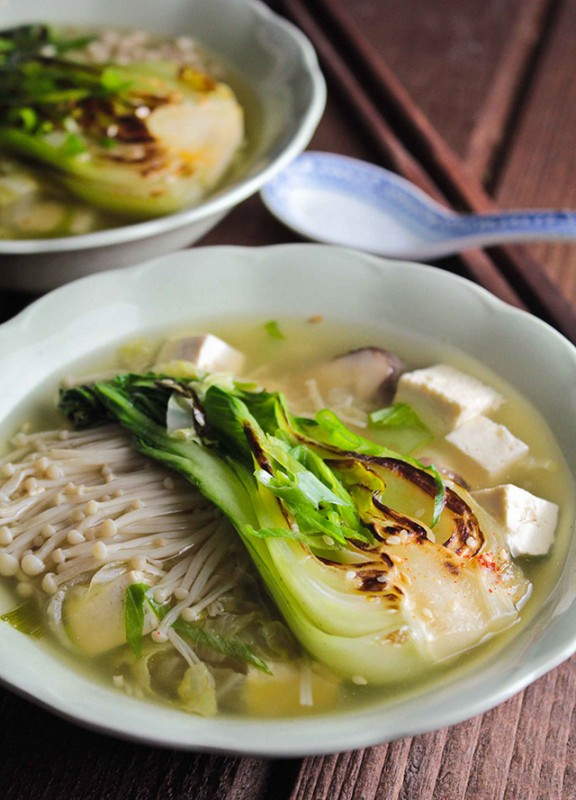 Miso Soup with Asian Greens | Food Bloggers of Canada